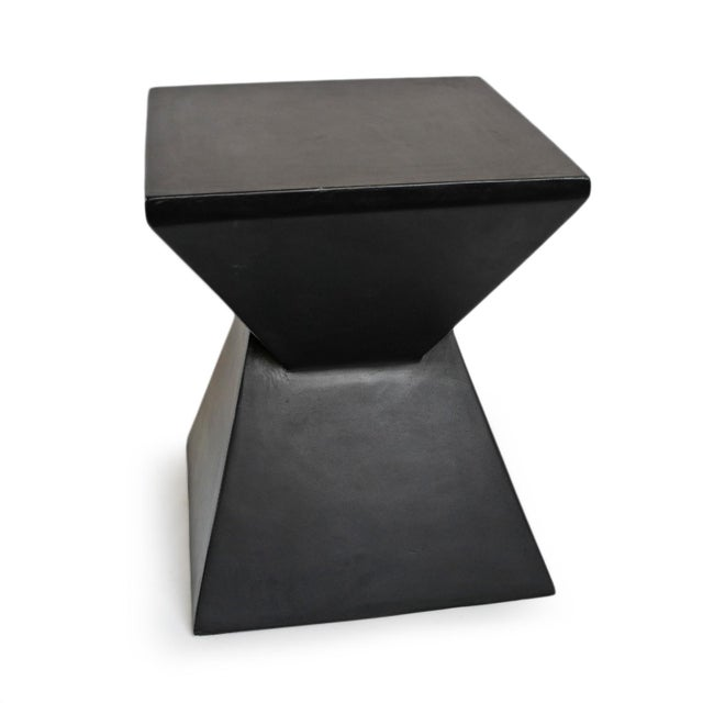 Contemporary Modern Outdoor Side Table For Sale - Image 3 of 5