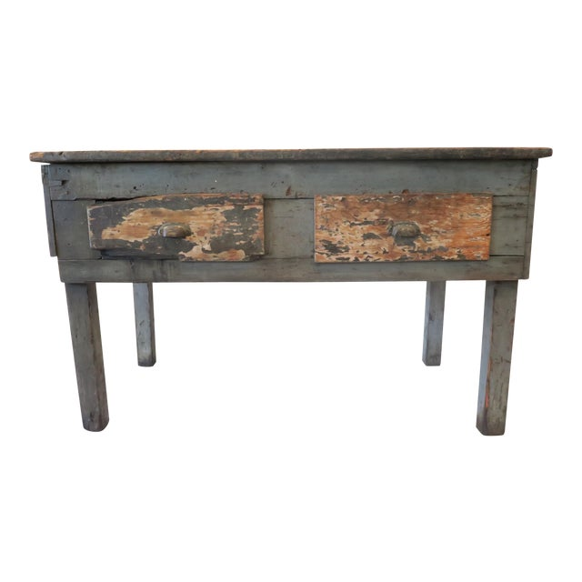 Rustic Wood Work Table - Image 1 of 8