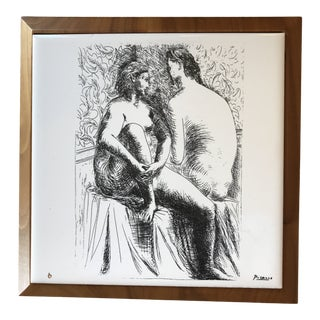 La Femme Nudes Picasso Limited Edition Print on Ceramic Tile For Sale