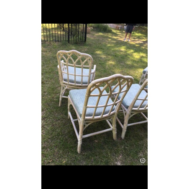 McGuire Bamboo Chinese Chippendale Chairs - Set of 6 For Sale - Image 11 of 13