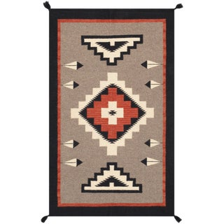 Navajo Style Wool Area Rug - 3′1″ × 5′1″ For Sale