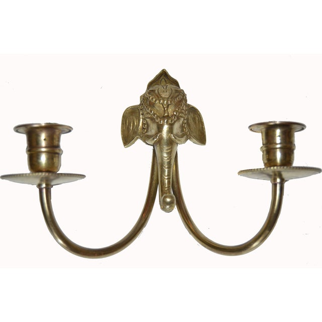 Vintage French Elephant Sconces - A Pair - Image 3 of 4