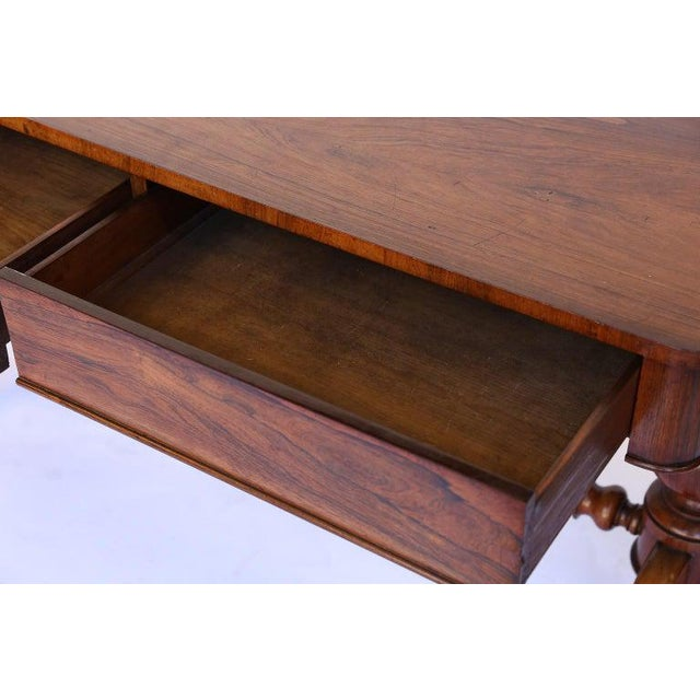 Late 19th Century Antique English Console Table With Two Drawers For Sale - Image 5 of 13