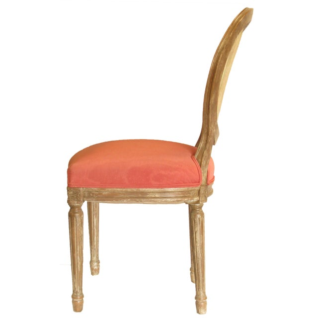 French Mid 20th Century French Louis XVI Style Chair For Sale - Image 3 of 8