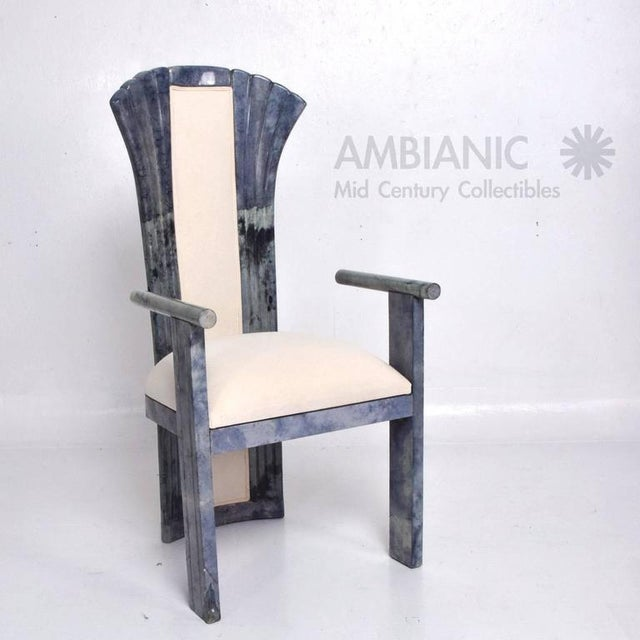 Set of 10 Goatskin Parchment Dining Chairs For Sale In San Diego - Image 6 of 8
