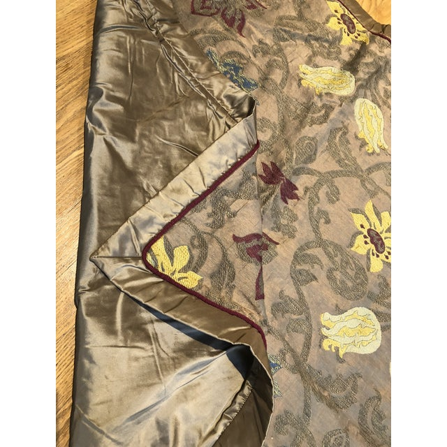 Fabric Clarence House Silk Throw For Sale - Image 7 of 8