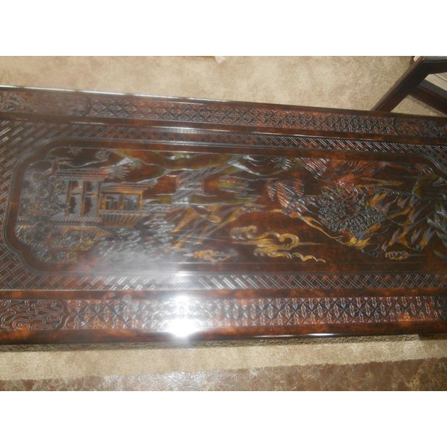 John Widdicomb Chinoiserie Console Table For Sale - Image 12 of 13