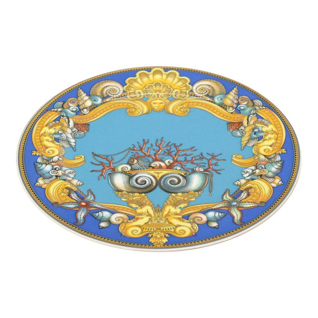 Rosenthal Versace Porcelain Charger Plate For Sale