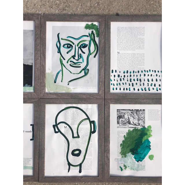 """Abstract """"A Self-Made Man,"""" Set of 6 Acrylic Paintings For Sale - Image 3 of 5"""