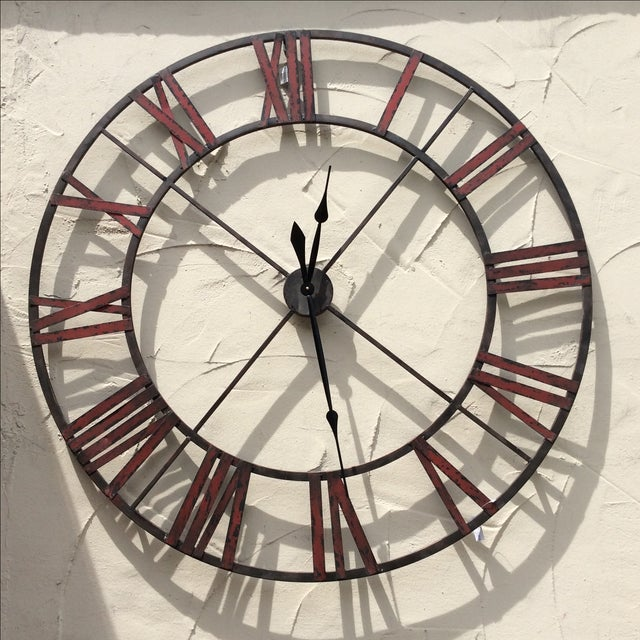 Large Metal Wall Clock - Image 2 of 5