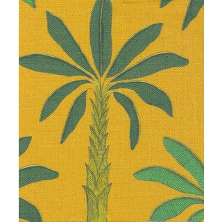 Tropical Fabric in Gold Yellow, Sample For Sale