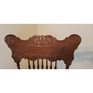 19th Century Carved Mahogany Twist Spindle Rocking Chair Preview