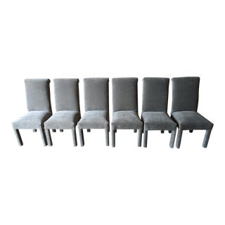 Vintage Reupholstered Parsons Chairs - Set of 6 For Sale