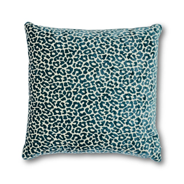 Early 21st Century Schumacher Madeleine Pillow in Cadet For Sale - Image 5 of 5