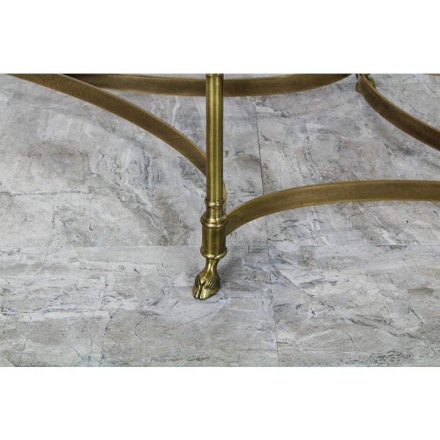 Labarge Mid Century Labarge Brass Coffee Table, Brass Coffee Table For Sale - Image 4 of 12