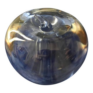 Tiffany & Co Mid Century Apple Crystal Paperweight For Sale