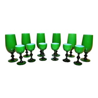 1960s Vintage Carlo Moretti Cordial Stemware - Set of 12 For Sale