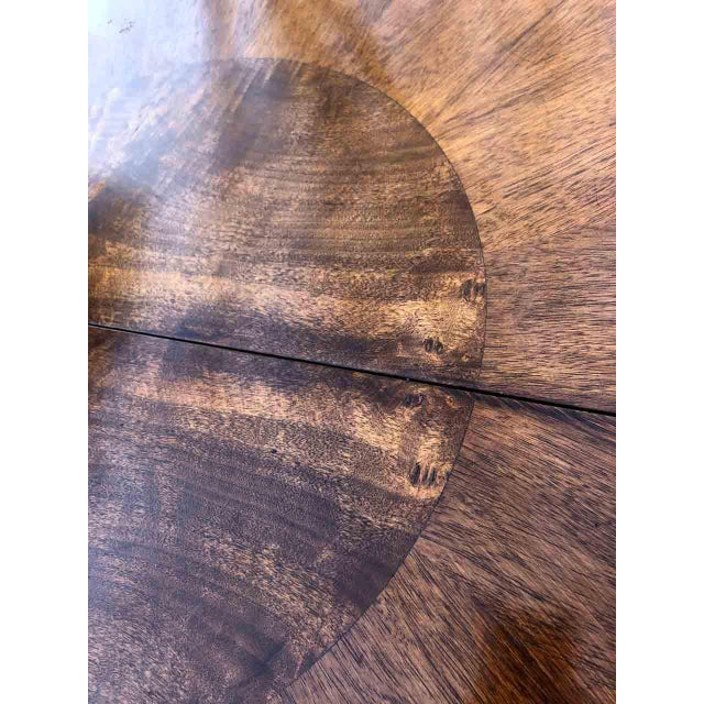 1990s Contemporary Walnut and Burl Wood 3 Leaf Extension Dining Table For Sale - Image 12 of 13