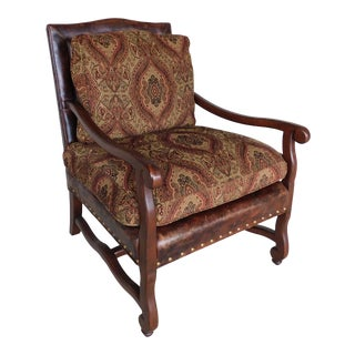 Hancock & Moore French Louis VIII Style Arm Chair For Sale