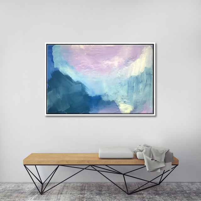 FRAMED GICLÉE PRINTS: * Frame style: floating frame made from wood. * Frame Color: White * Can be hung vertically or...