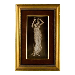 19th C. Neoclassical Enamel on Porcelain Plaque Painting For Sale