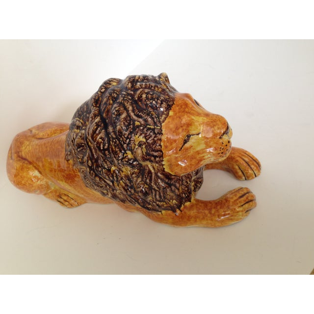 Italian Ceramic Lion - Image 4 of 7