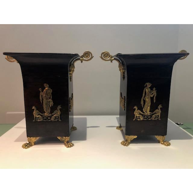 19th Century Neoclassical Napoleon III Cachepots - a Pair For Sale - Image 10 of 10
