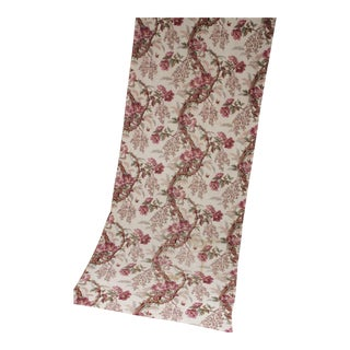 Antique Fabric French Floral Circa 1850 Hand Block Printed Arborescent Pattern For Sale