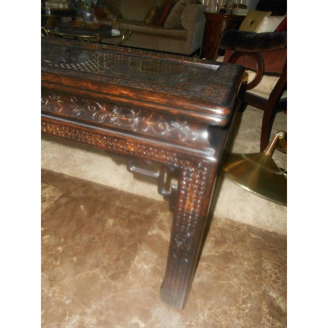 John Widdicomb Chinoiserie Console Table For Sale - Image 11 of 13