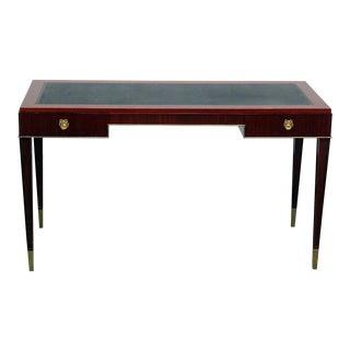 De Coene Courtrai Italian Leather Top Desk For Sale