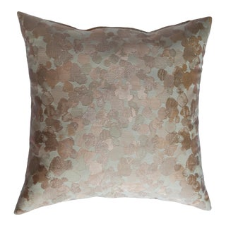 Iridescent Rose Gold Pillow For Sale