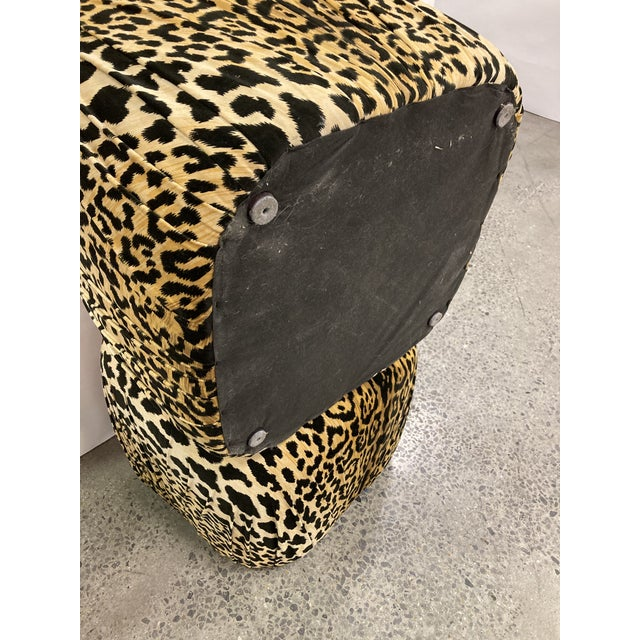 Vintage Poof Ottomans, a Pair For Sale In Charleston - Image 6 of 8