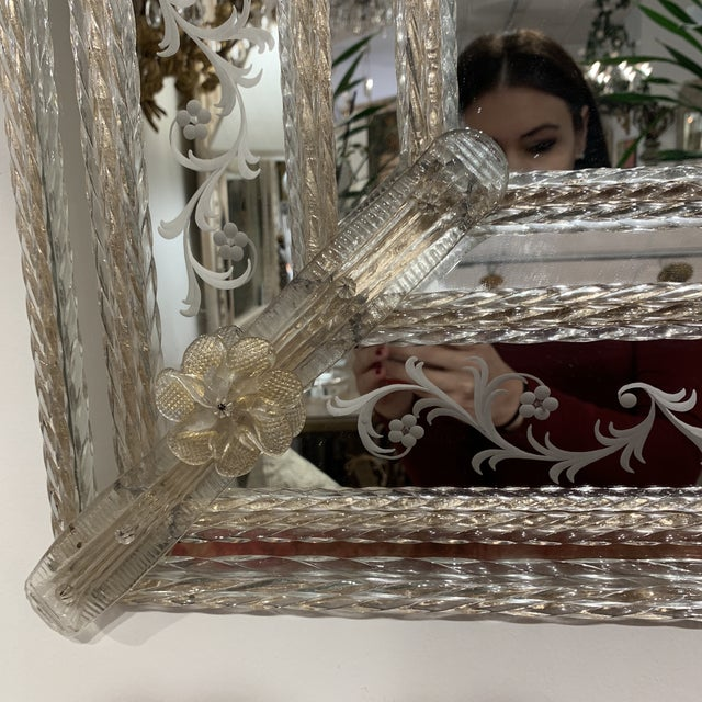 Vintage Murano Mirror For Sale In Houston - Image 6 of 13