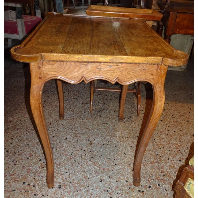 Mid 19th Century Mid 19th Century French Oak Side Table For Sale - Image 5 of 11