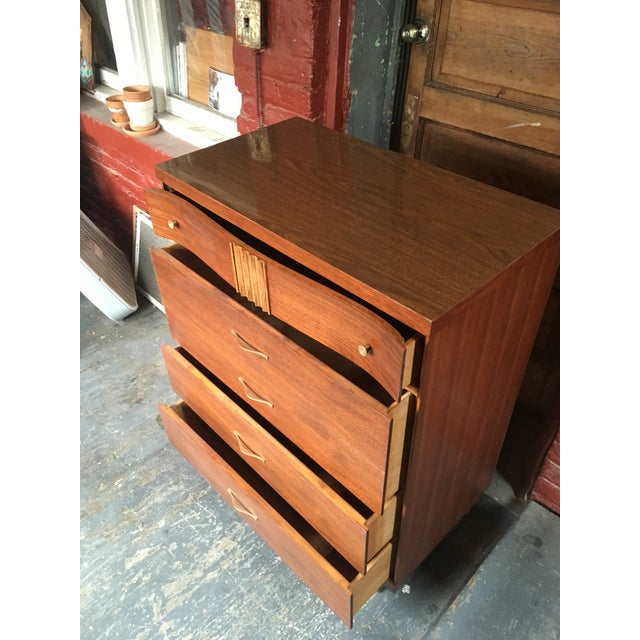1960s 1960s Mid Century Modern Bassett Furniture Highboy Dresser For Sale - Image 5 of 8