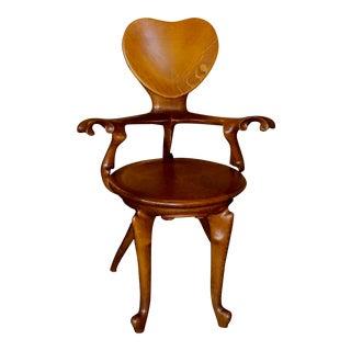 Antoni Gaudi Modern Oak Calvin Chair For Sale
