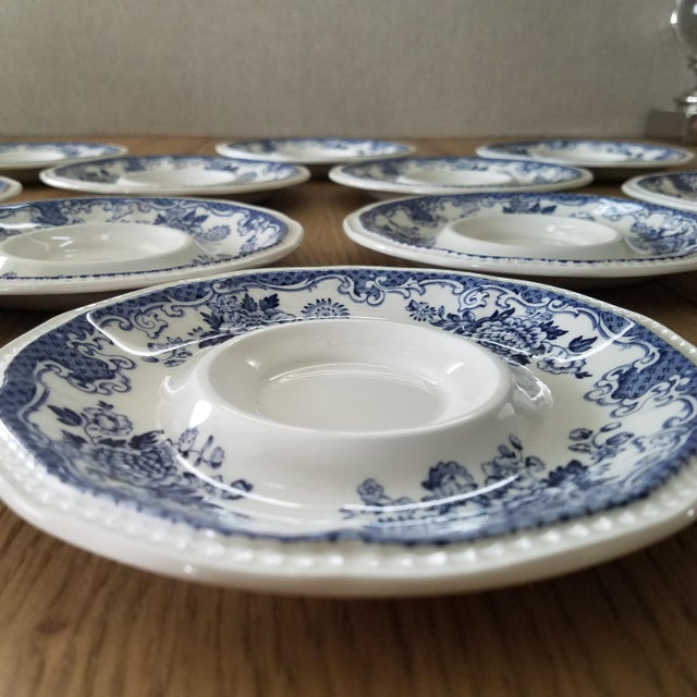 Early 20th Century Kensington Stafforshire Ironstone Balmoral 1801 Cups & Saucers, 22 Piece For Sale - Image 5 of 10