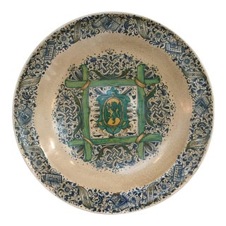 1990s Italian Faience Ceramic Charger/Platter For Sale