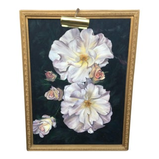 Original Floral Acrylic Painting For Sale