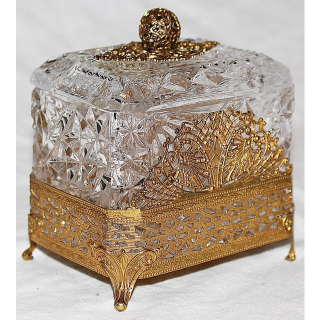 Hollywood Regency Glass Vanity Box - Image 2 of 7