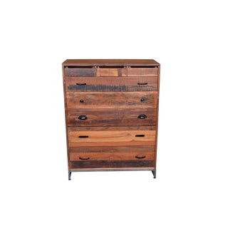 Rustic Style 8-Drawer Chest For Sale