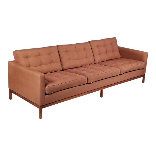 Three Seat Sofa Designed by Florence Knoll for Knoll International For Sale