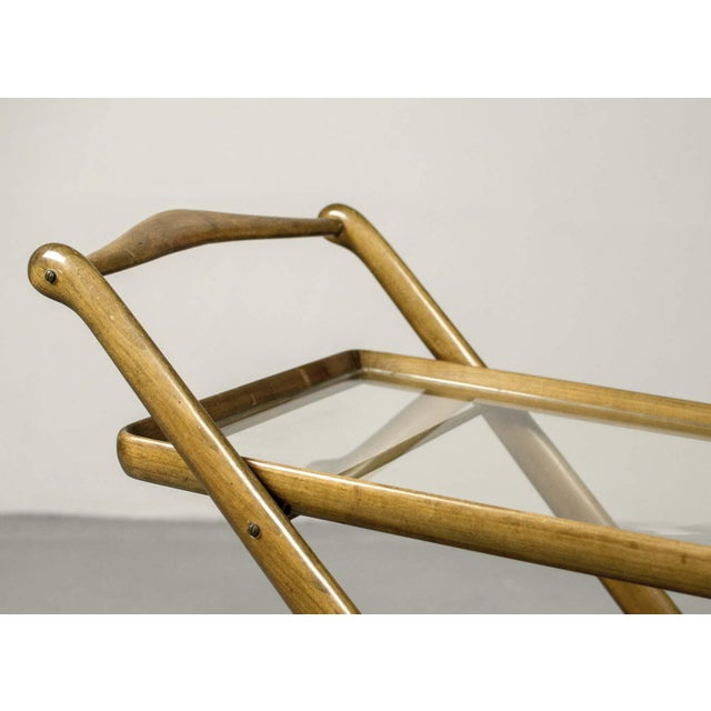 Mid-Century Italian Design Walnut Bar Trolley by Cesare Lacca for Cassina, 1950s For Sale - Image 6 of 11