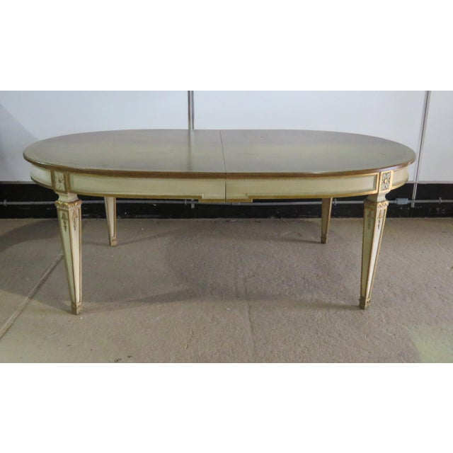 Mid-Century Modern Swedish Paint Decorated Dining Table For Sale - Image 3 of 12