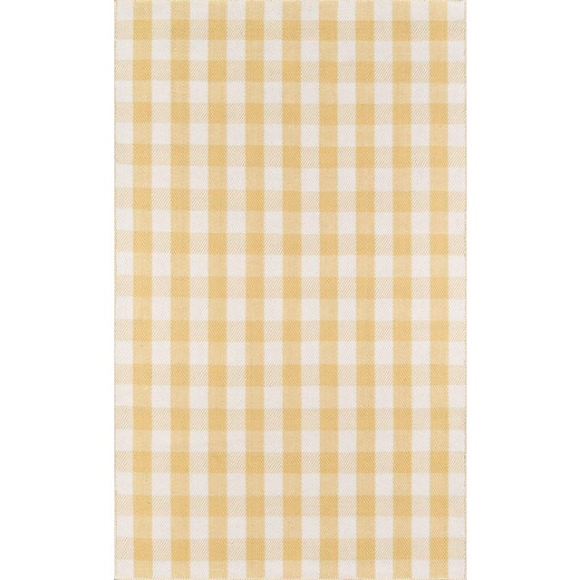 "Gold Madcap Cottage Highland Fling a Scotch Please Gold Area Rug 5' X 7'6"" For Sale - Image 8 of 8"