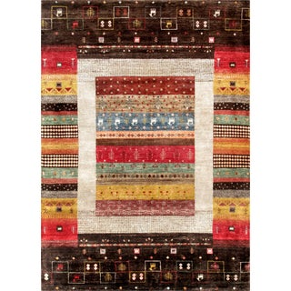 Pasargad Home Gabbeh Area Rug - 6' X 8' For Sale