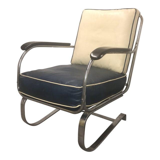 Vintage Original Lloyd Chair Art Deco Spring Club Chair For Sale
