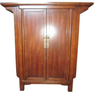 Chinese Narrow Cabinet with Doors & Drawers For Sale