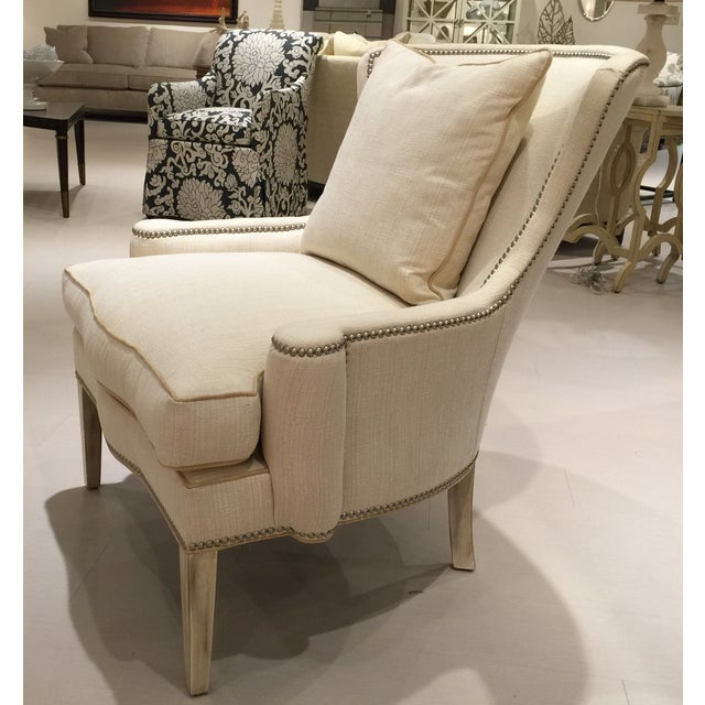 Contemporary Southwood Transitional Modified Wing Chair For Sale - Image 3 of 6
