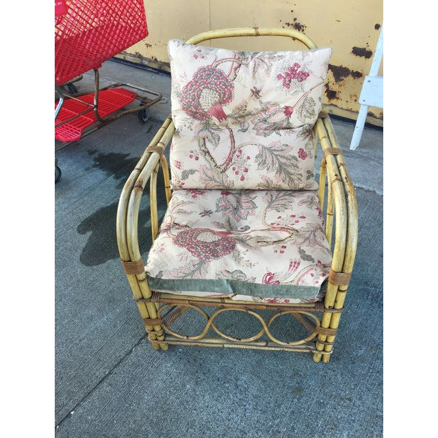 Bamboo Vintage Bamboo Arm Chair For Sale - Image 7 of 7